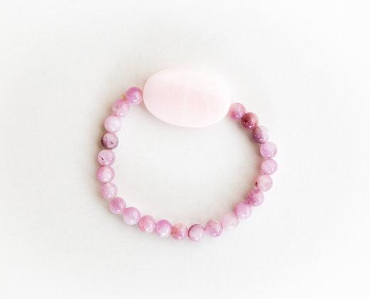 Kunzite Pink Opal Bracelet