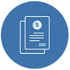 Collection of invoices icon