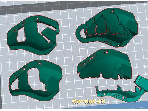 S Crank Craw 3 stencil set