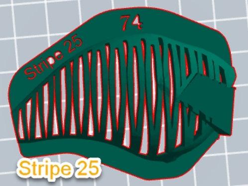 S Crank Stripe 25 stencil