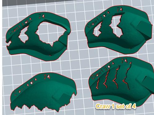 S Crank Craw 1 stencil set