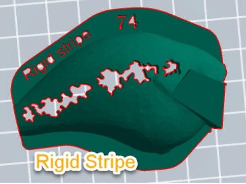 S Crank Rigid Stripe stencil