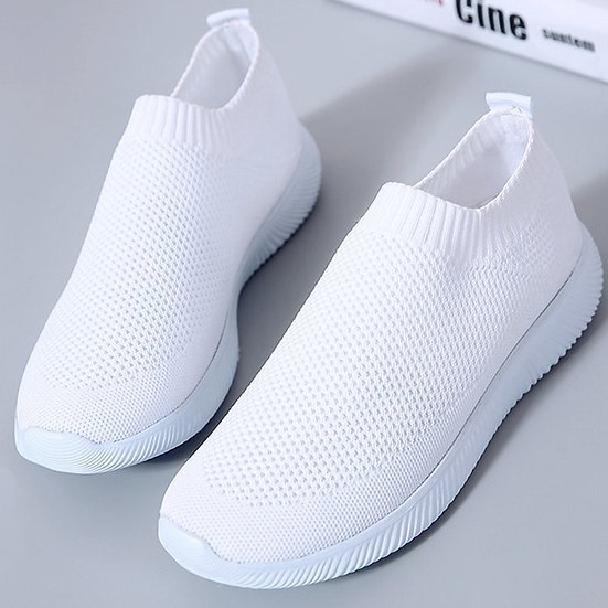 White sneaker trainer keep fit yoga well being