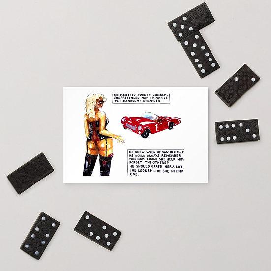 Dominartist Sexy Hitchhiker Standard Postcard