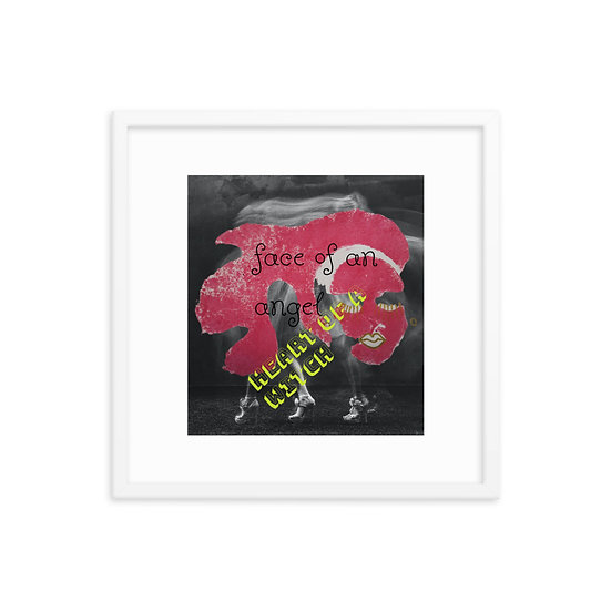 witch and angel art Dominartist™ contemporary wall hanging black white frames