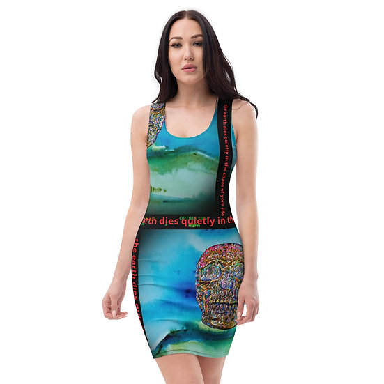 death earth dress dominartist eco activist clothing contemporary art limited edition print