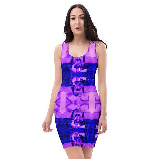 purple designer dress Dominartist Golden dominatrix