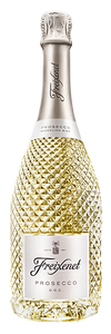 A golden bottle of prosecco