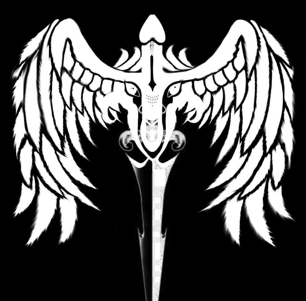 The Dominartist logo Black Winged