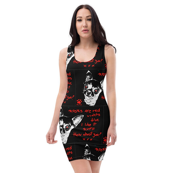 chihuahua alternative dress like it rough slogan black red cool limited edition art