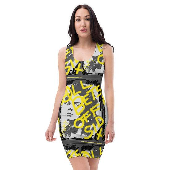 sid punk rock dominartist dress graf stencil marker pen art black yellow
