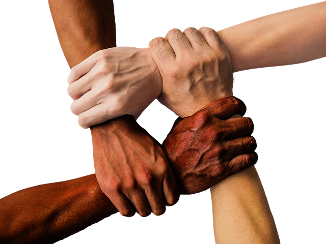 all races hands holding