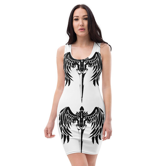 Dominartist Winged Logo Monochrome Designer Dress