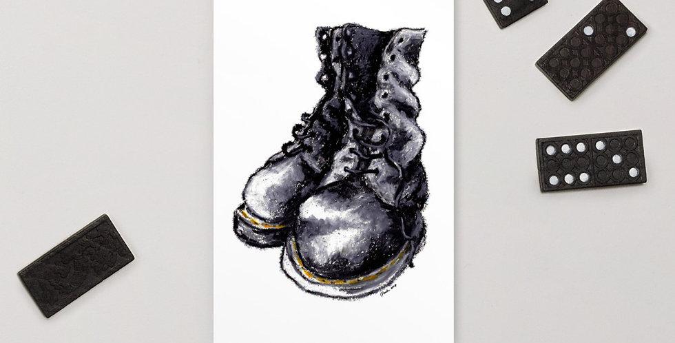 Doc Martin Punk Boots Standard Postcard