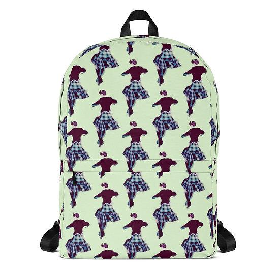 Backpack by Fanny Blomme Designer Mint Green Dance Rucksack