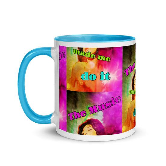 music made me mug by dominartist™ gift idea clooctors fine art designer quality