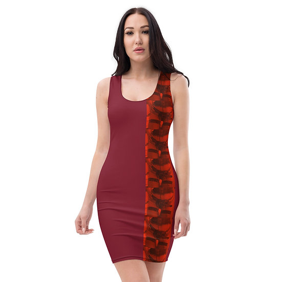deep red stripper still photography sexy dress fitted limited edition catwalk