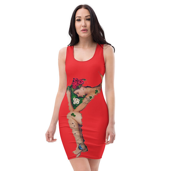 Fanny Blomme 10 Red Limited Edition Dress by Dominartist