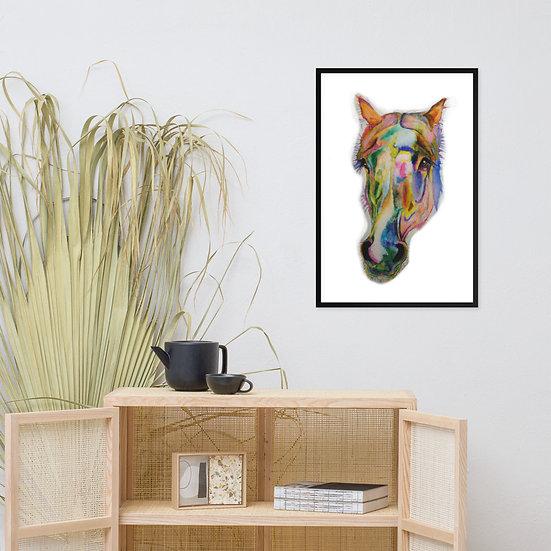 rainbow pop art horse modern art wall art Ecofam rescue animals by sarnia cherie