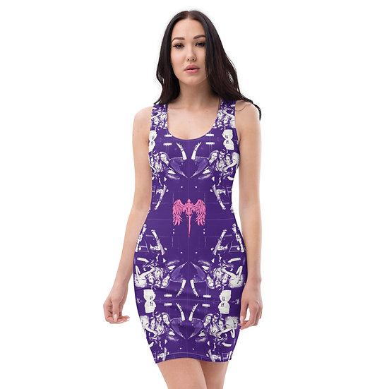 purple issue art dress dominartist single issue pink logo wings