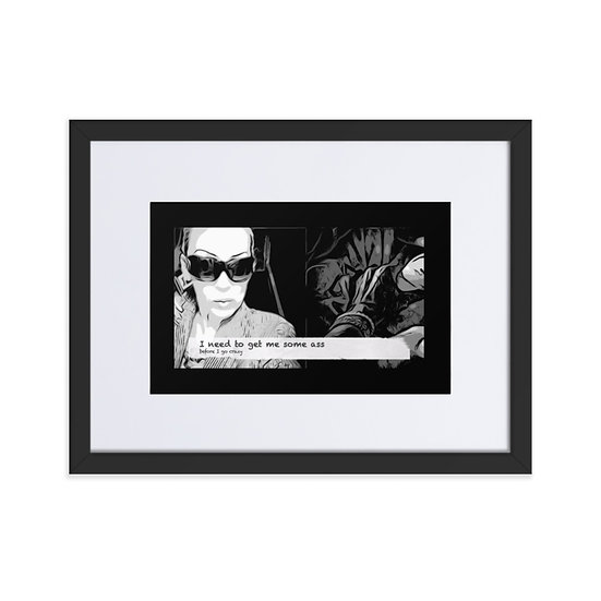 Limited Edition Dominartist print Graphic Novel Style Monochrome Framed Wall Art