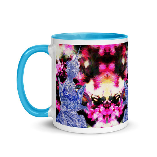Thai mug tourist pink roses humanity peace om Dominartist key look season