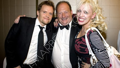 The Countess in Marbella with Marc Warren and Sir James Hewitt