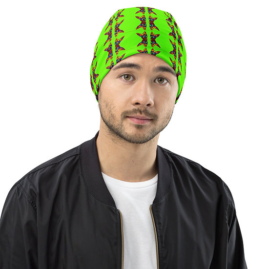 All-Over Print Beanie Day Glow Chihuahua