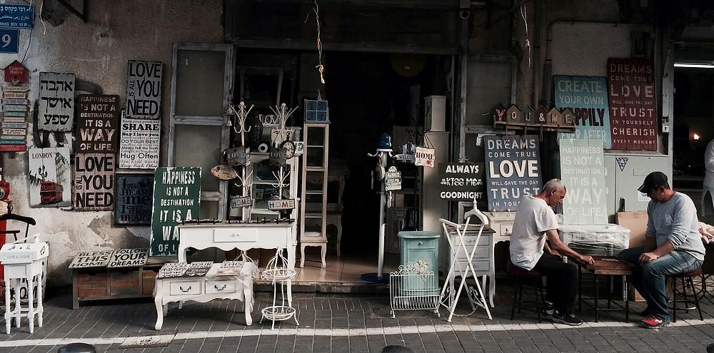 a cafe street scene