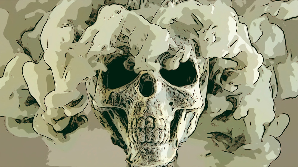 smoke skull animation film from Fanny Blomme