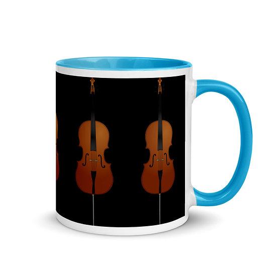 cello design mug music merchandise dominartist tale teller club gift