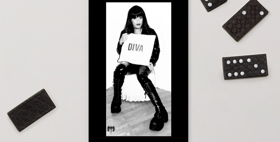Diva in Boots Postcard Fine Art