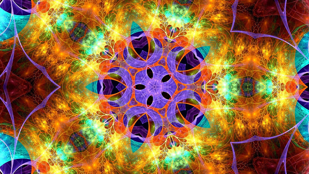 A kaleidoscope of beautiful strong colours with a sense of hope