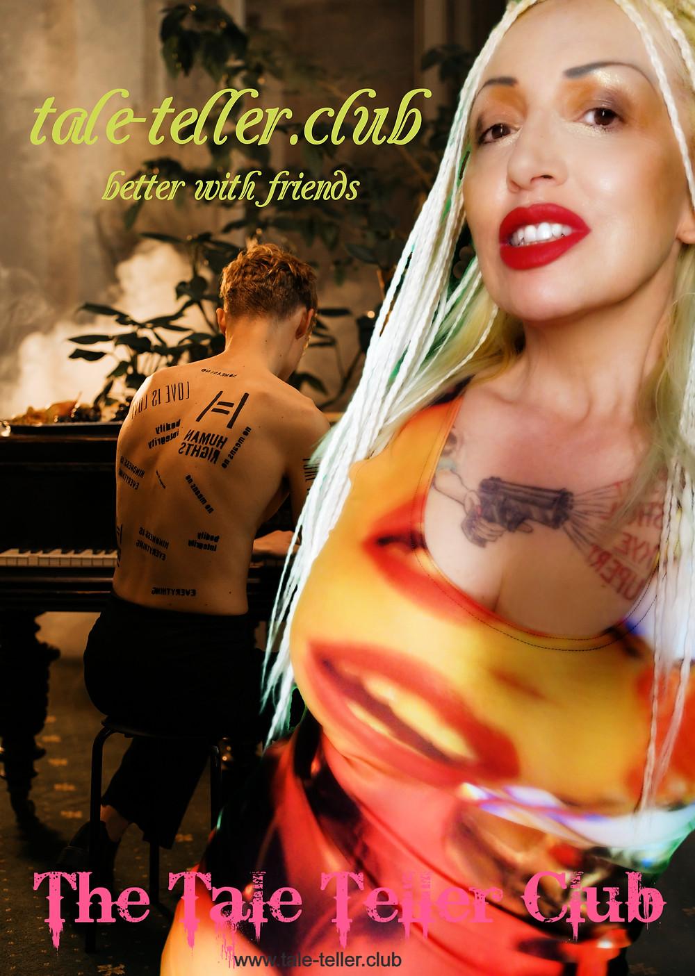 Woman and man playing piano