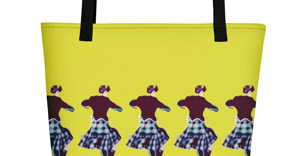 Beach Bag Shopper Tote Large Fanny Blomme