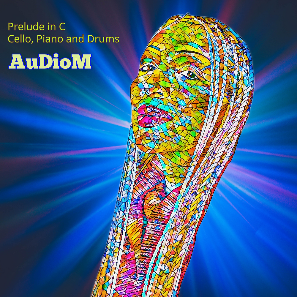 stained glass portrait of Audiom