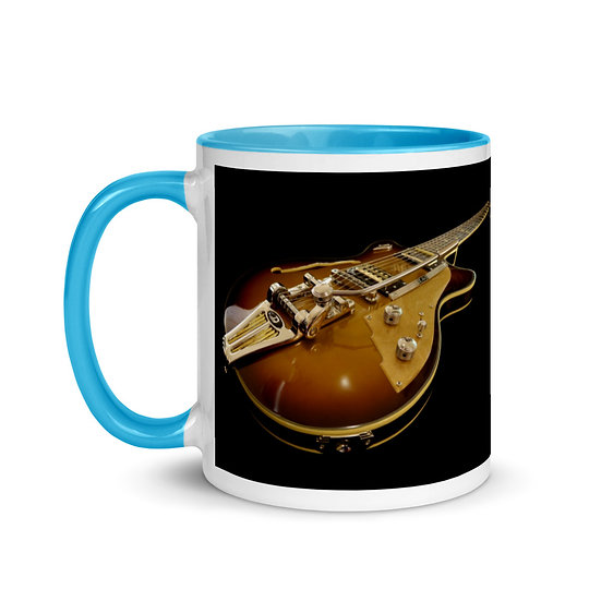 electric guitar gift mug dominartist tale teller club fine art merchandise