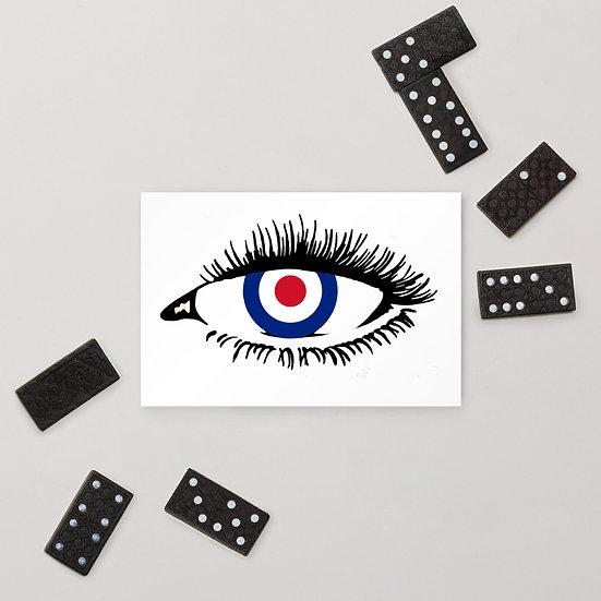 Mod Who Retro Eye London Underground Standard Postcard