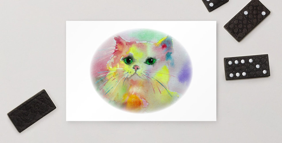 Rainbow Kitty by the Dominartist Project Standard Postcard
