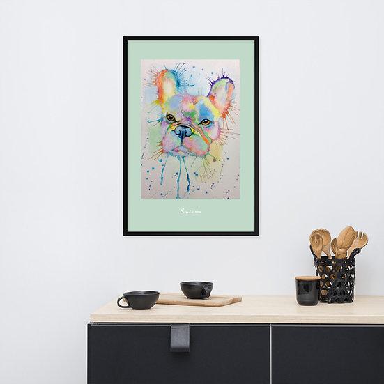 pale green designer framed wall art sarnia de la mare new issue print vogue interiors