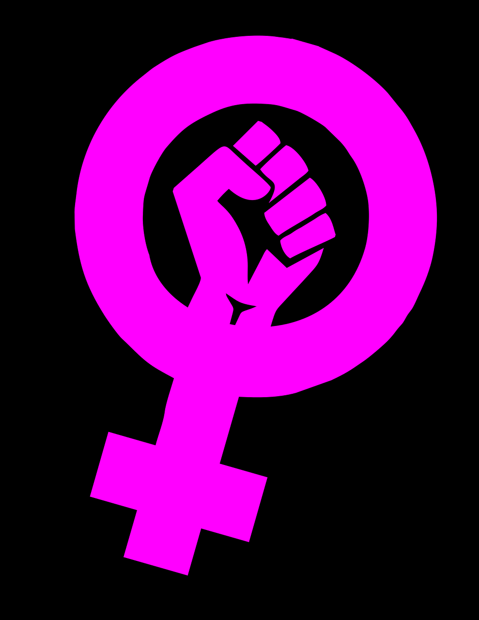 A feminist logo