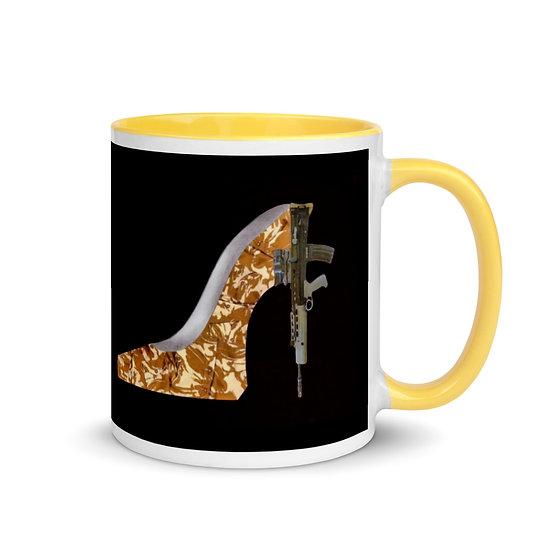 black war shoe gun art political mug feminist artist uk dominartist ™