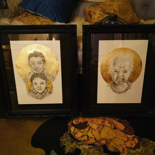 Portraits in 24K Gold by portrait Artist Charles Frinton