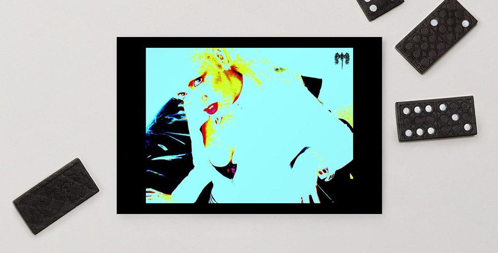Pop Art Woman Standard Postcard by Domino