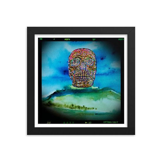 macarbre wall art Dominartist™ skull earth dying landscape ecofam green blue