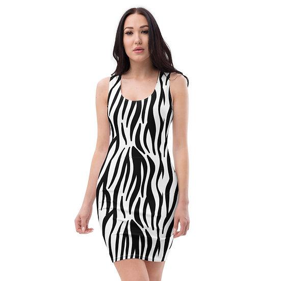 Monochrome Tiger Stripe Dress
