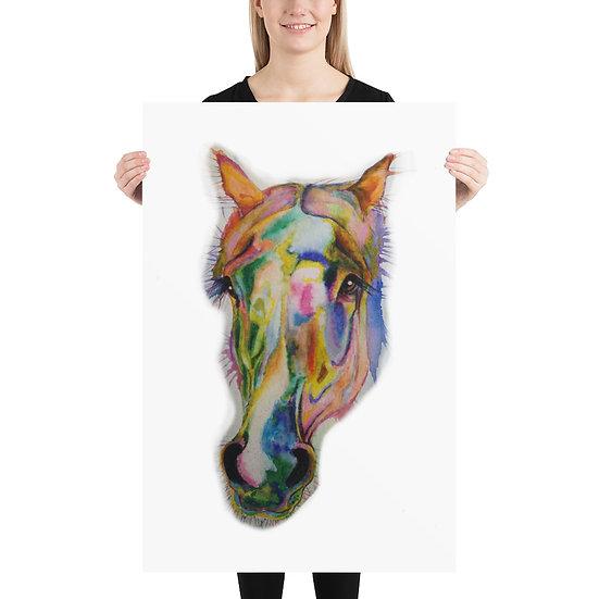 small large huge wall art horse rainbow pop art contemporary equestrian