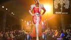 Fanny Blomme on the Catwalk with the first public Dominartist Dress Show