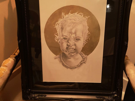 Portrait by Charles Frinton in 24k Gold for Christmas 2020