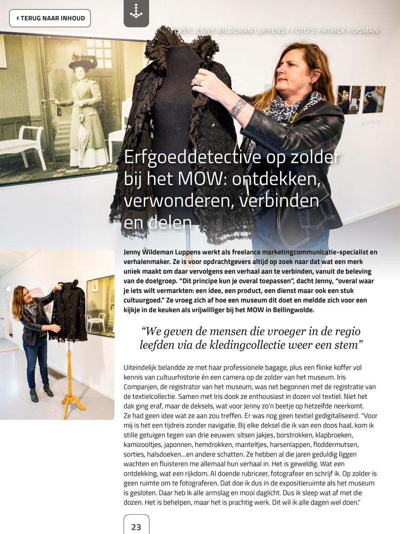 Wildebloumkes in e- magazine Erfgoedpartners 4-2018 pag. 1